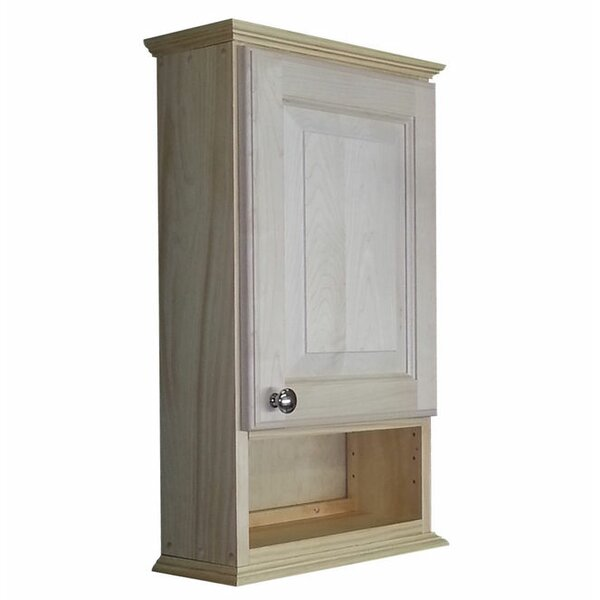 Ashley Series 15.25 W x 25.5 H Wall Mounted Cabinet by WG Wood Products