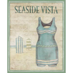 Vintage Bathing Suits II by Paul Brent Graphic Art on Wrapped Canvas by Portfolio Canvas Decor