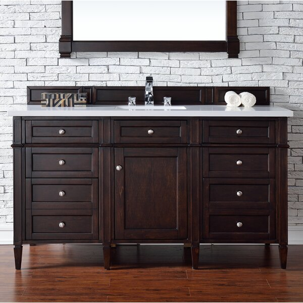 Deleon 60 Single Burnished Mahogany Bathroom Vanity Set by Darby Home Co