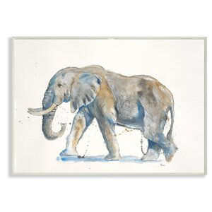 'Elephant' Watercolor Painting Print by World Menagerie