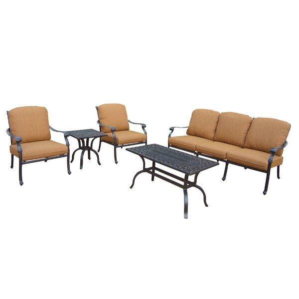 Bosch 5 Piece Sunbrella Sofa Set with Cushions by Darby Home Co