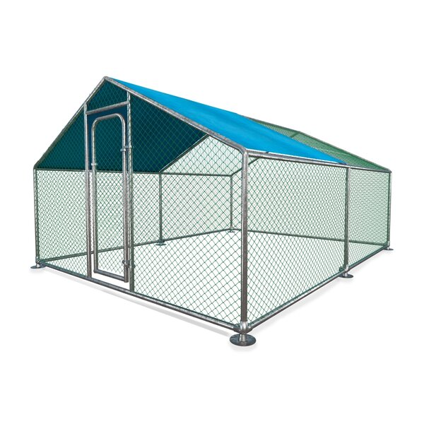 Holden Metal Walk-in Chicken Coop/Chicken Run with Waterproof Cover by Tucker Murphy Pet