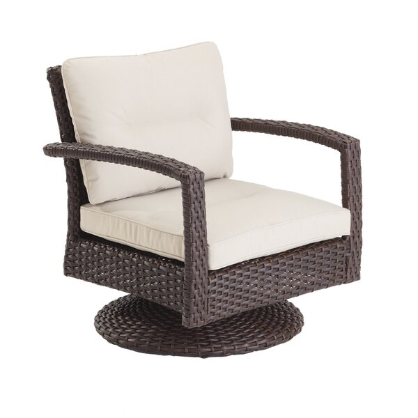 Aurora Swivel Patio Chair with Cushions by Domus Ventures