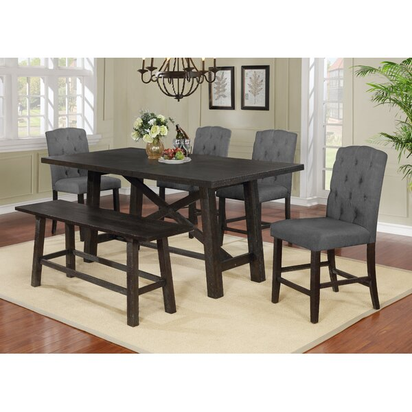 Trott 6 Piece Counter Height Solid Wood Dining Set by Gracie Oaks Gracie Oaks