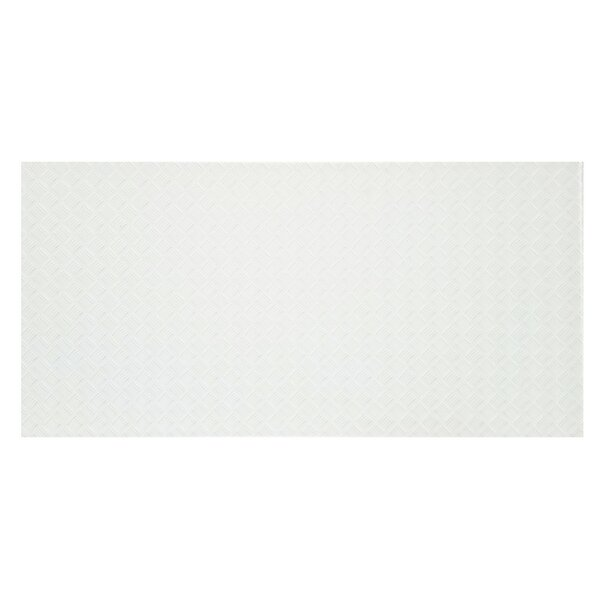 Elements Striped 12 x 24 Glass Field Tile in White by Abolos