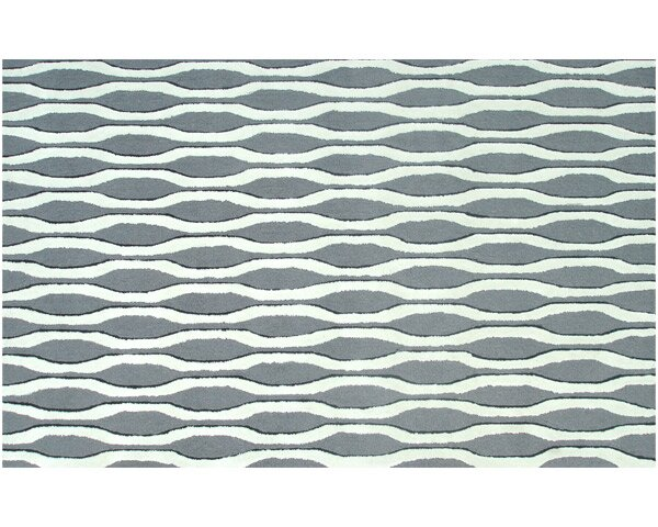 Hand-Woven Grey/White Area Rug by Threadbind