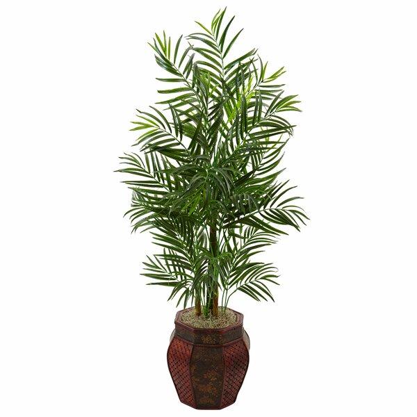 Areca Artificial Floor Palm Tree in Planter by Bloomsbury Market