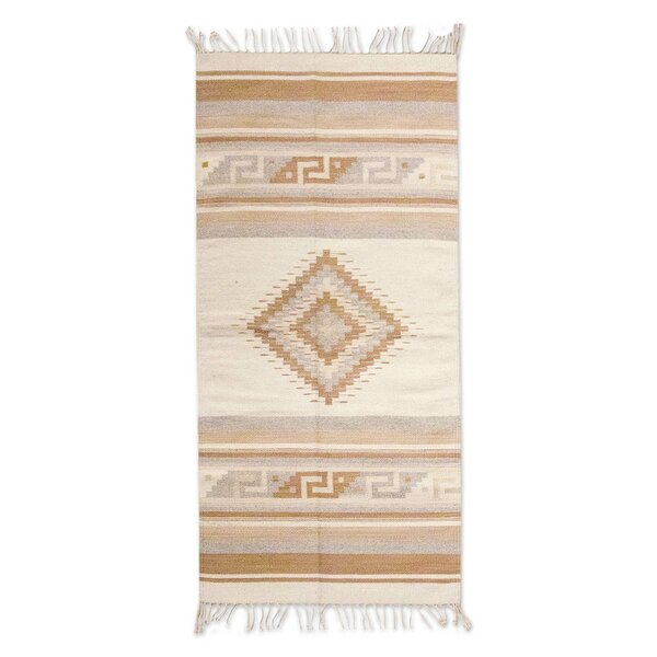 Weare Hand-Loomed Tan / Ivory Area Rug by Millwood Pines