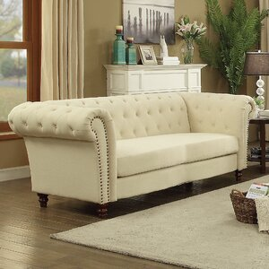 Renhold Chesterfield Tufted Back Sofa by Willa Arlo Interiors
