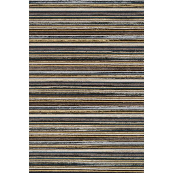 Kirksey Hand-Tufted Gray Area Rug by Charlton Home