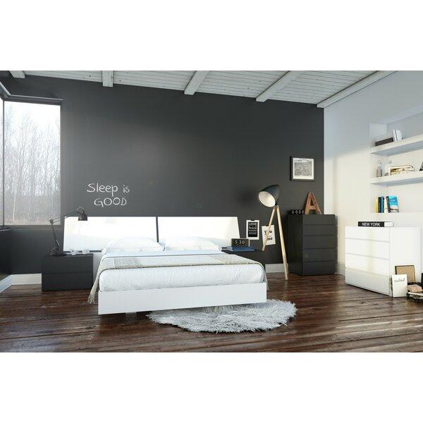 Euharlee Queen Platform 5 Piece Bedroom Set By Wrought Studio by Wrought Studio Amazing
