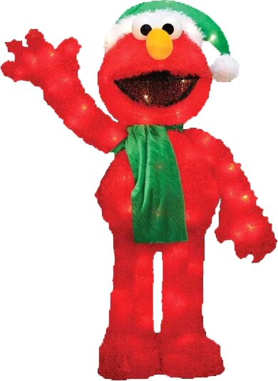 Decorative Soft Faux Fur Sesame Street Elmo Christmas by Product Works