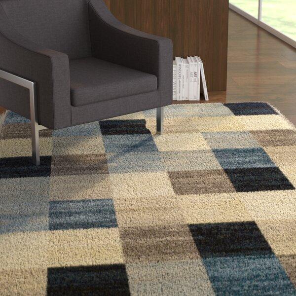 Churchton Beige/Blue Area Rug by Ebern Designs