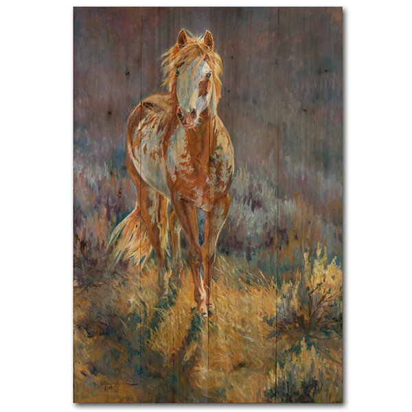 Purple Sage Painting Print Plaque by WGI-GALLERY