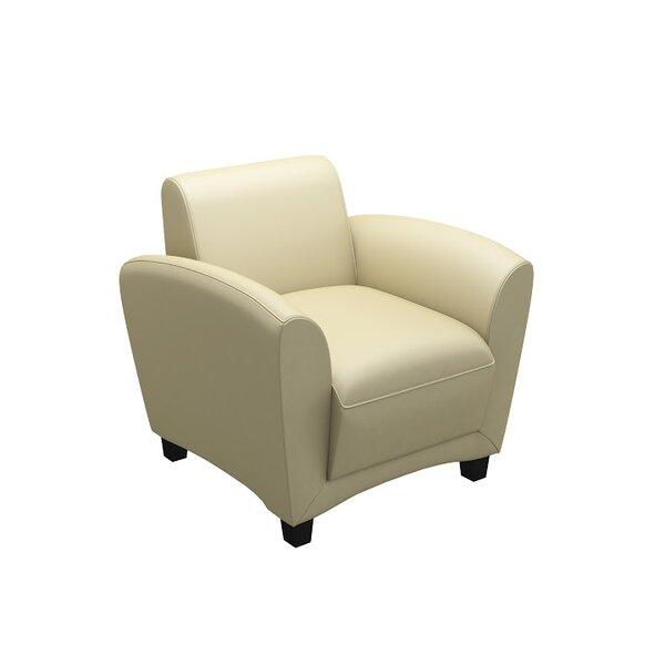 Lounge Series Santa Cruz Leather Lounge Chair by Mayline Group