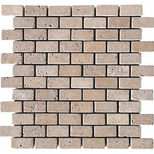 Tumbled Brick 1 x 2 Stone Mosaic Tile in Noce by Parvatile