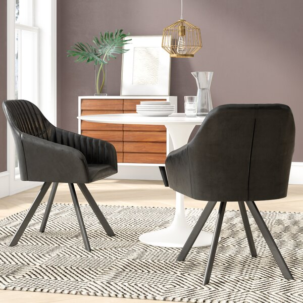Rylee Upholstered Dining Chair (Set of 2) by Mercury Row
