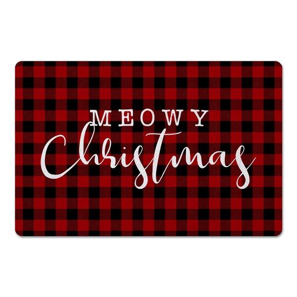Carlton Meowy Christmas Kitchen Mat