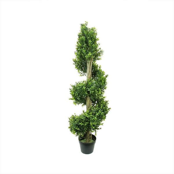 Two-Tone Artificial Murraya Spiral Topiary Tree in Pot by Northlight Seasonal