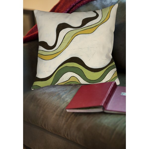 Bandeau 2 Printed Throw Pillow by Manual Woodworkers & Weavers