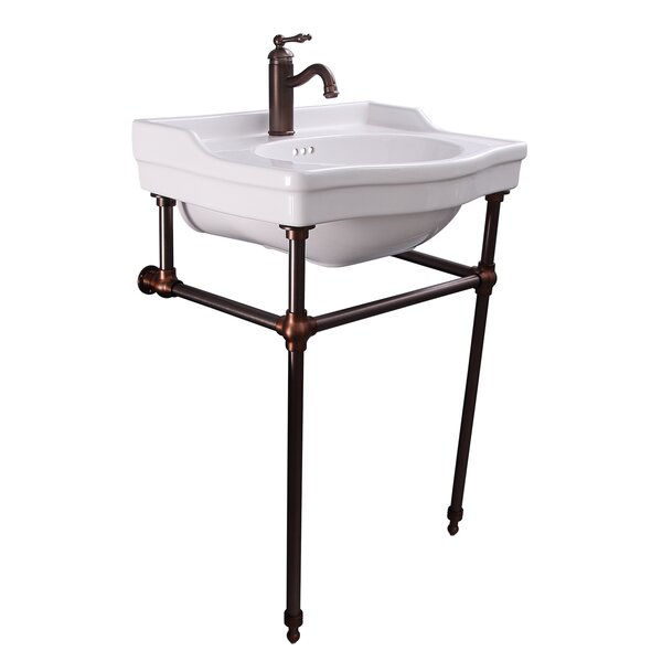 Cali Vitreous China 24 Console Bathroom Sink with Overflow