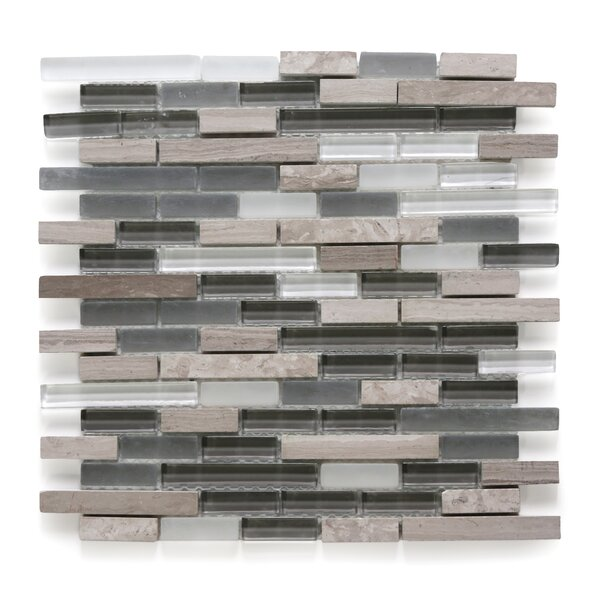 Opera Random Sized Glass/Marble Mosaic Tile in Aria Light by Solistone