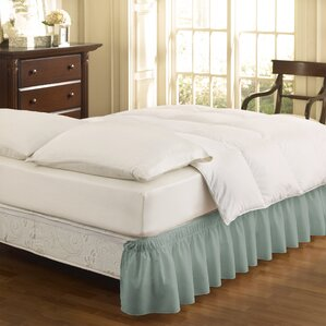 Gearheart Wrap Around Solid Ruffled 140 Thread Count Bed Skirt