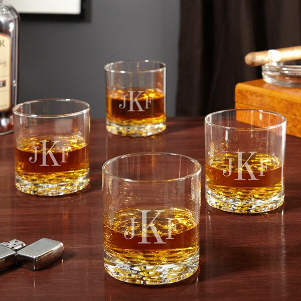 Buckman Personalized 10.25 oz. Whiskey Glass (Set of 4) by Home Wet Bar