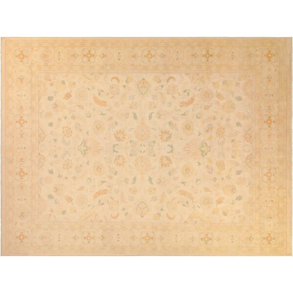 Adalrik Hand-Knotted Wool Natural Area Rug by One Allium Way