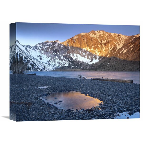 Nature Photographs Laurel Mountain Dusted with Snow Overlooking Convict Lake, Sierra Nevada, California Photographic Print on Wrapped Canvas by Global Gallery