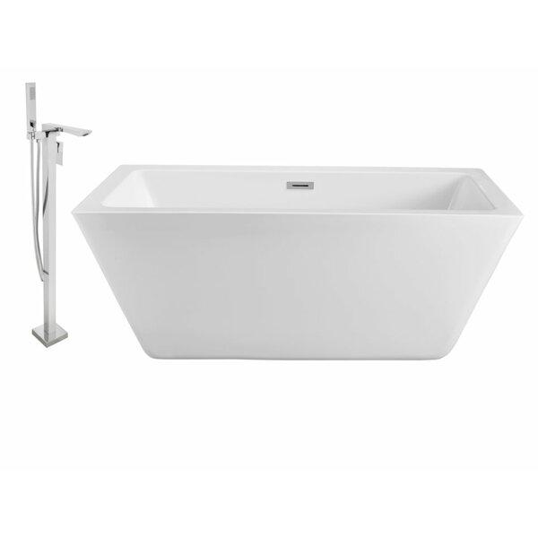 60 x 28 Freestanding Soaking Bathtub by Wildon Home ®