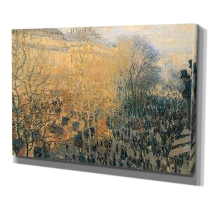 Carnaval Boulevard by Claude Monet Print of Painting on Wrapped Canvas by Wexford Home