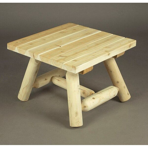 Square Wooden Coffee Table by Rustic Natural Cedar Furniture