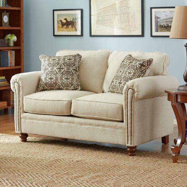 Price Comparisons Suffield Serta Upholstery Caroll Loveseat by Three Posts by Three Posts