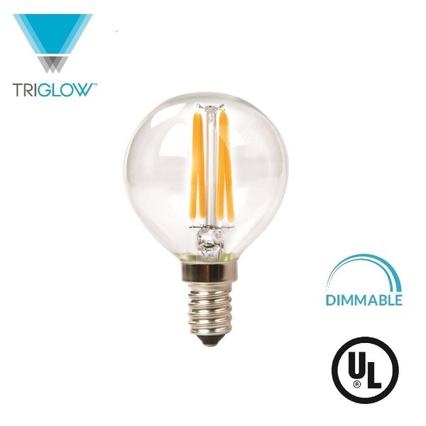 25W Equivalent E12 LED Globe Light Bulb by TriGlow