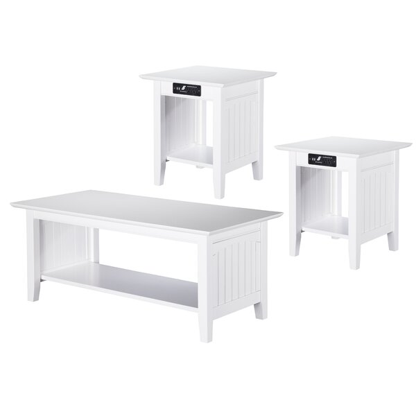 Esita Charging Station 3 Piece Coffee Table Set By Rosecliff Heights
