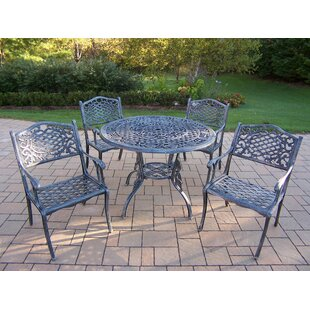 Tea Rose 5 Piece Dining Set By Oakland Living
