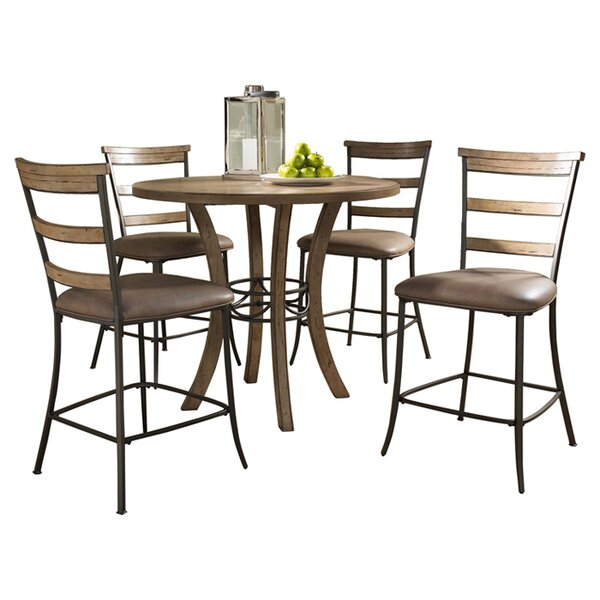 Rude 5 Piece Counter Height Dining Set by Alcott Hill