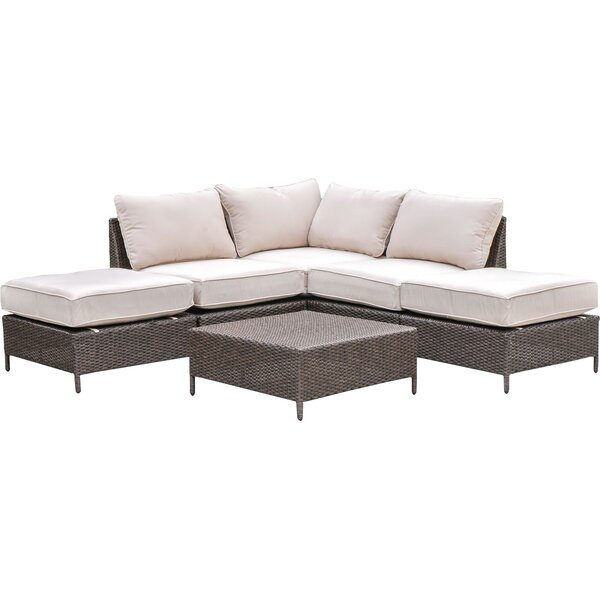 Sharon 6 Piece Rattan  Sectional Seating Group with Cushions by Laurel Foundry Modern Farmhouse