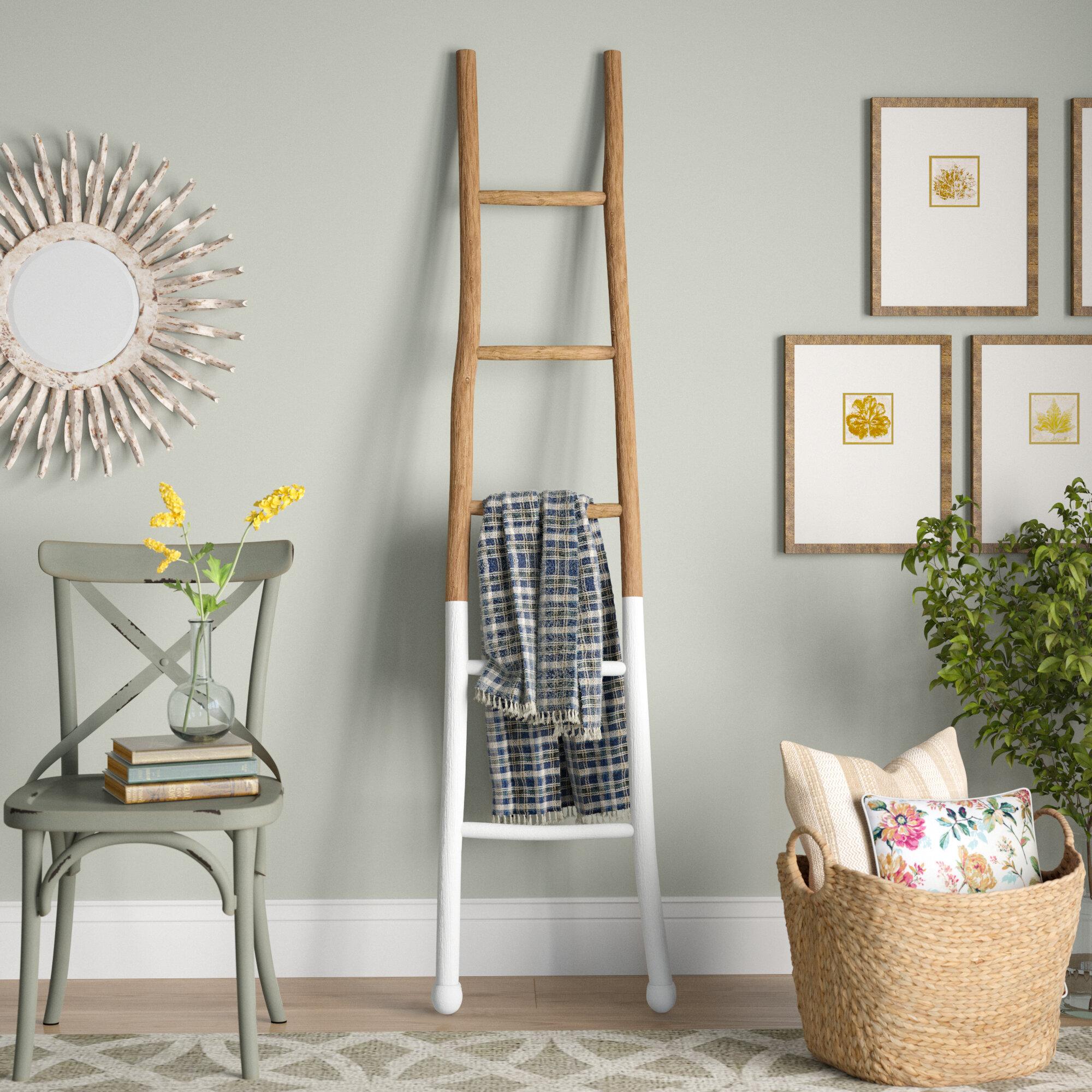 Laurel Foundry Modern Farmhouse Wood 6 Ft Blanket Ladder Reviews Wayfair