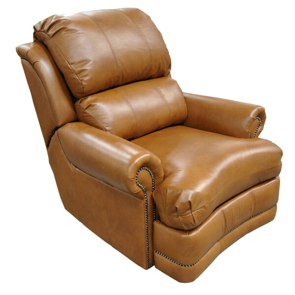 Morgan Leather Manual Lift Assist Recliner by Omnia Leather