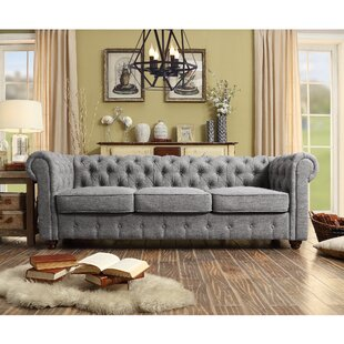 Quitaque Chesterfield Sofa Grey Tufted Sofa50