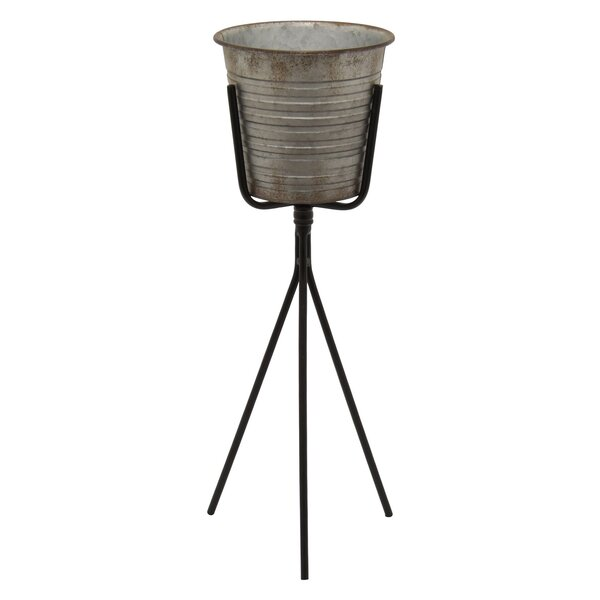 Shonna Metal Pot Planter with Stand by Gracie Oaks
