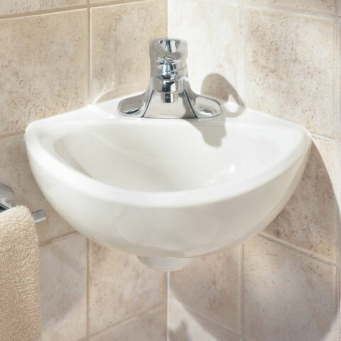 "Bathroom Sinks That Mount On The Wall american standard minette 11"" wall mount bathroom sink with"