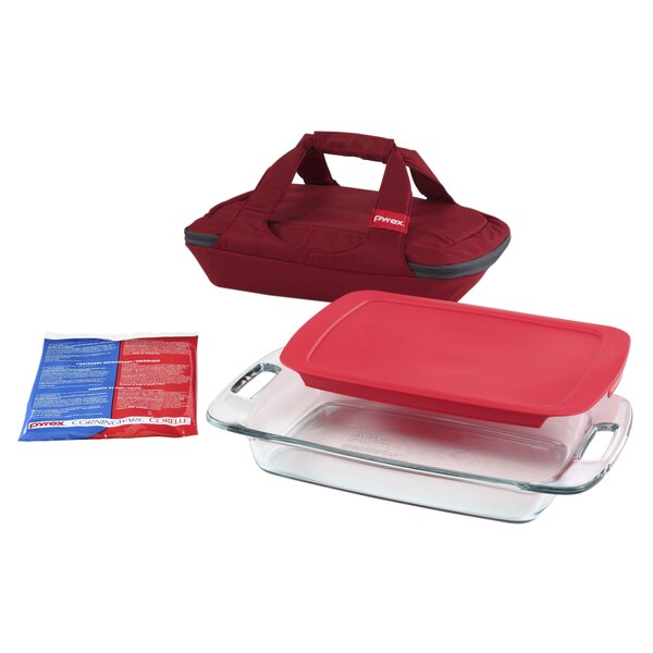 Portables Easy Grab 4 Container Food Storage Set by Pyrex