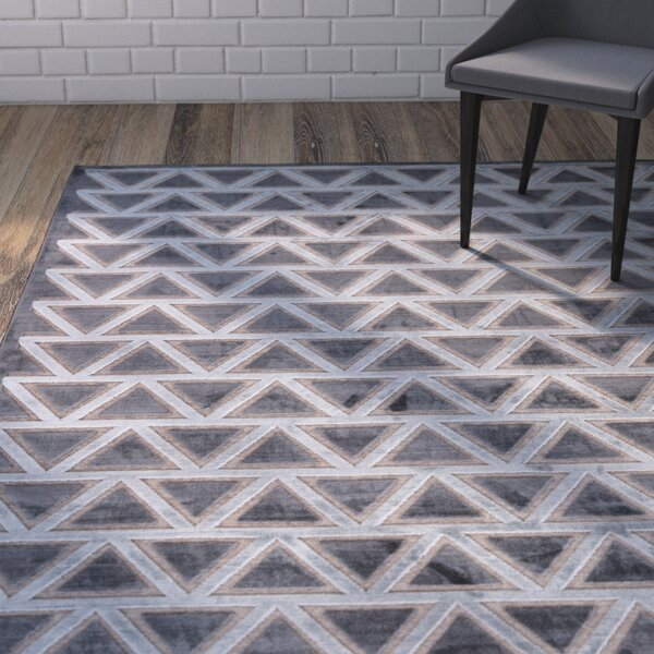 Heller Pewter/Gray Area Rug by Wrought Studio
