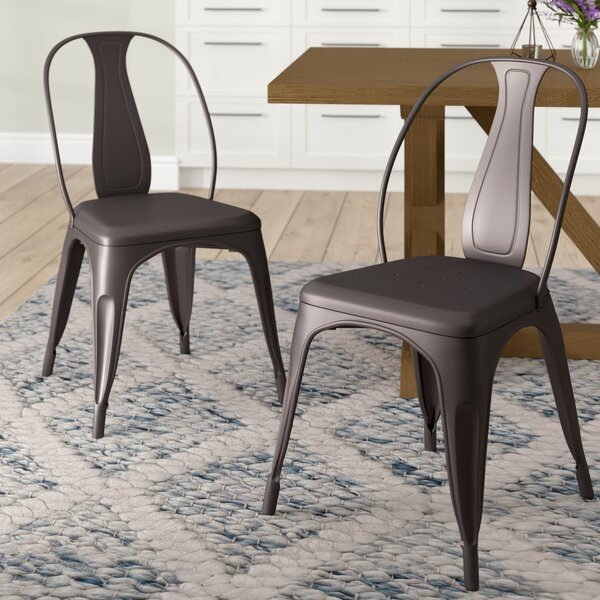 Sasha Vintage Stacking Dining Chair (Set of 2) by Laurel Foundry Modern Farmhouse