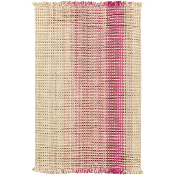 Rhiannon Hand-Woven Hot Pink Area Rug by August Grove