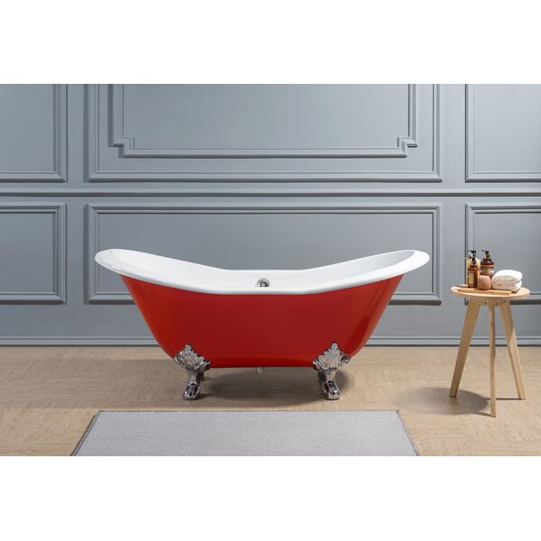 Cast Iron 61 x 30 Clawfoot Soaking Bathtub by Streamline Bath