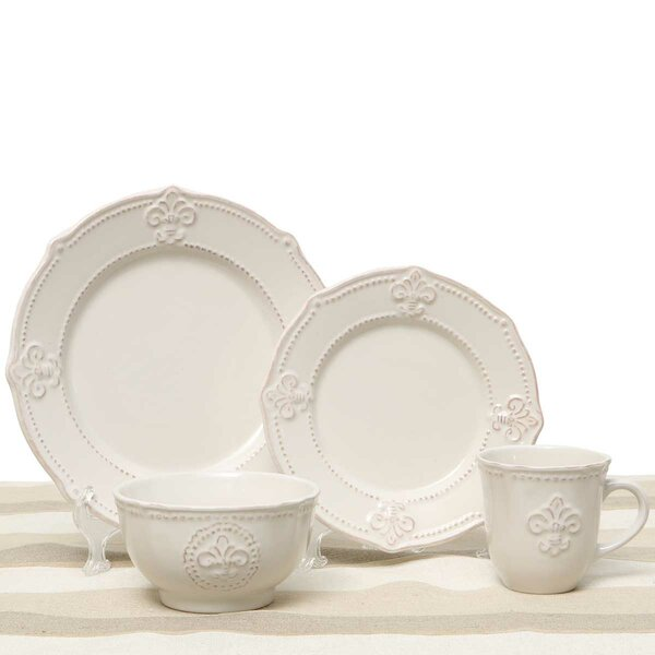 Fleur De Lis 4 Piece Place Setting, Service for 1 by ZiaBella